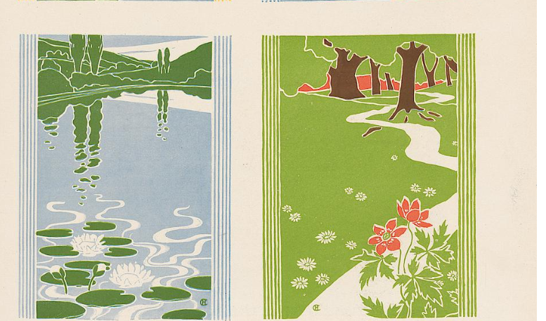 Decorative Entwürfe: die vier 'Elemente'. Hans Christian Andersen - Paris (detail).