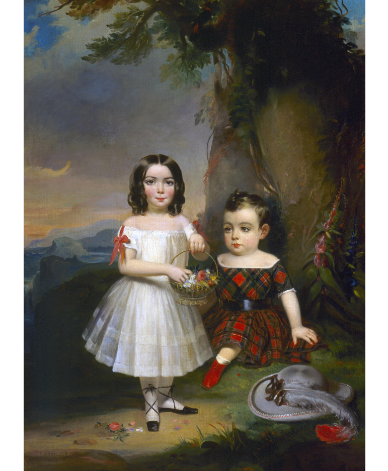 """Children of John and Mary Ross."" 1843."