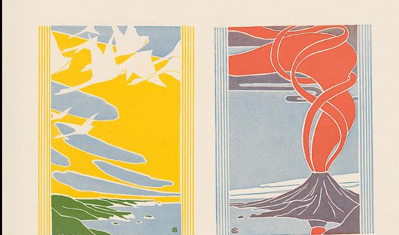 "Decorative Entwürfe: die vier 'Elemente"". Hans Christian Andersen - Paris (detail)."