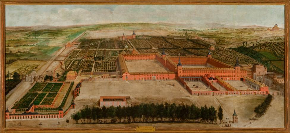 """""""Vista del Palacio del Buen Retiro."""" 1637."""