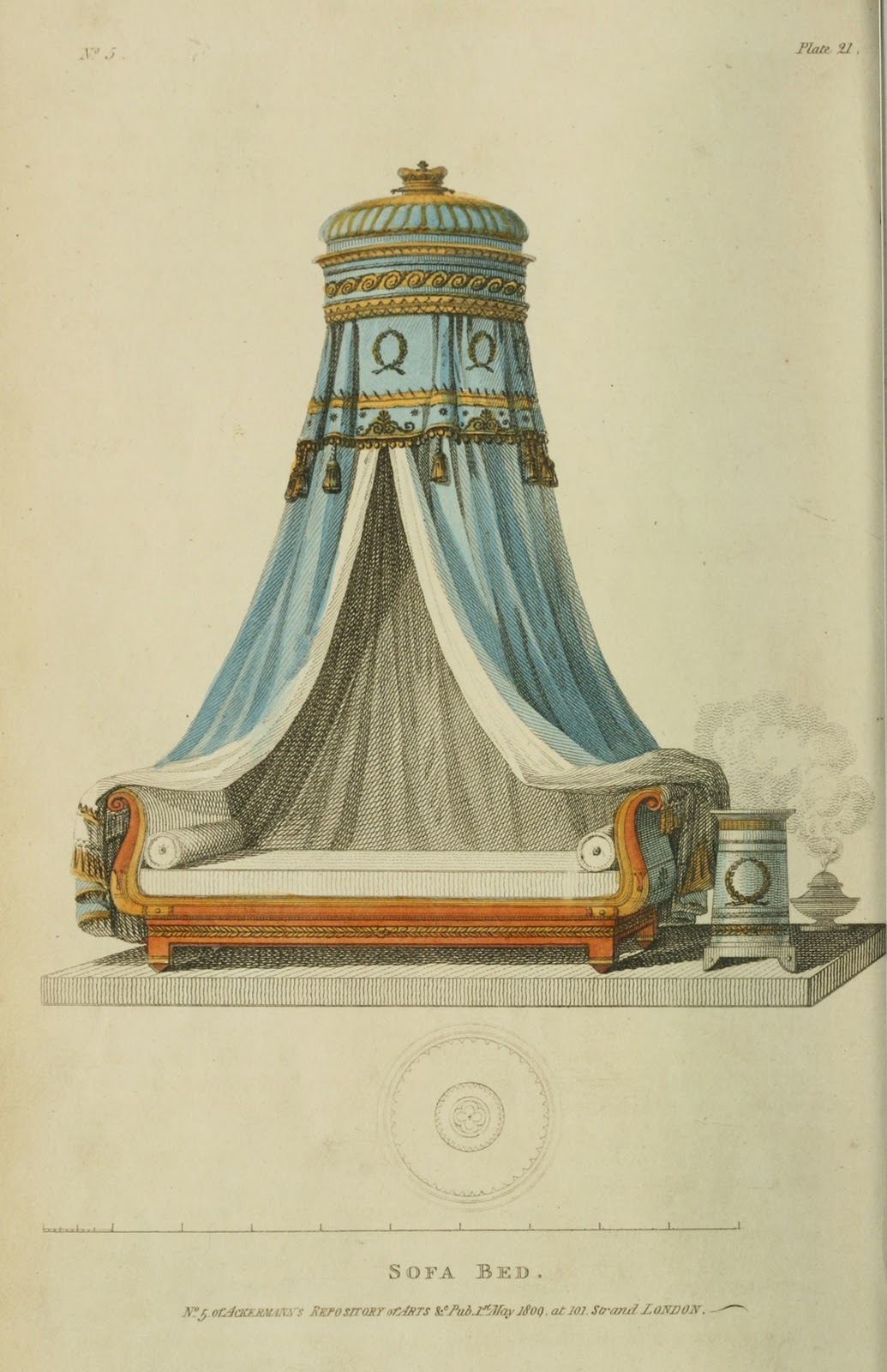 French sofa bed. 1809.