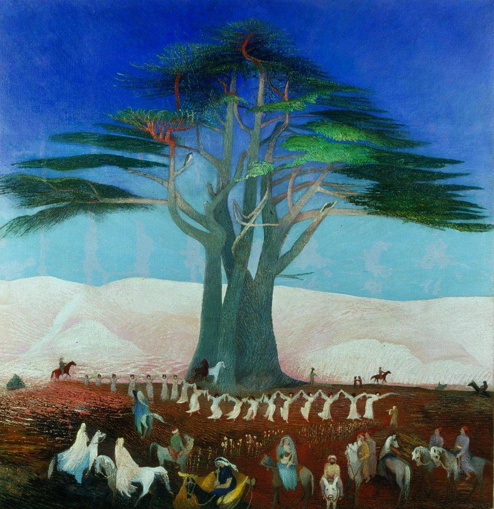 """Pilgrimage to the Cedars of Lebanon."" 1907."