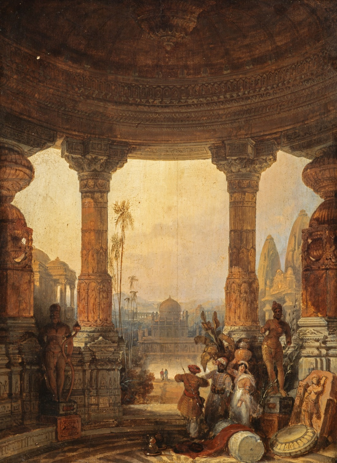 """Hindoo (Hindu) architecture, a composition."""