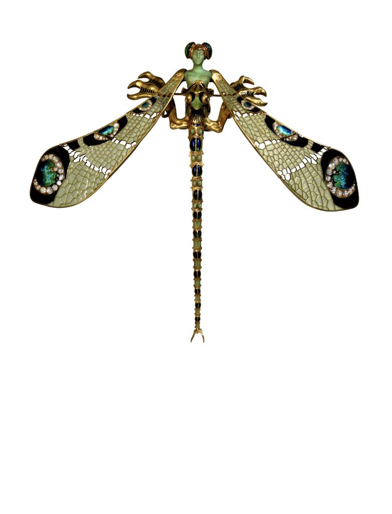 Dragonfly brooch. ca. 1897-1898.