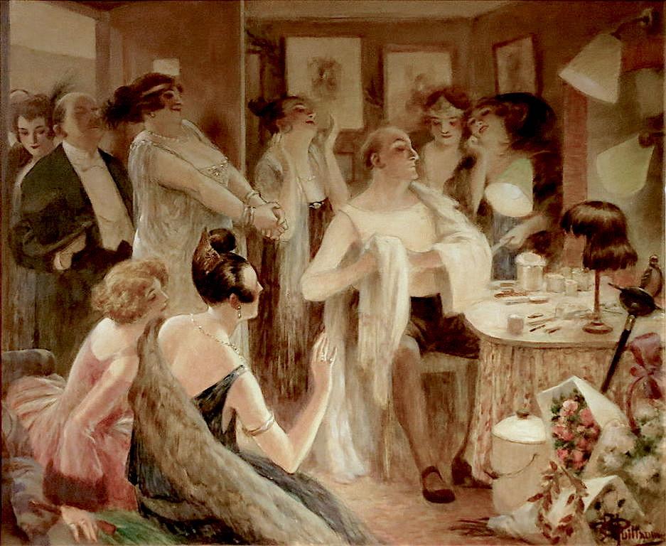 Les admiratrices (Lucien Guitry dans sa loge) - 1922