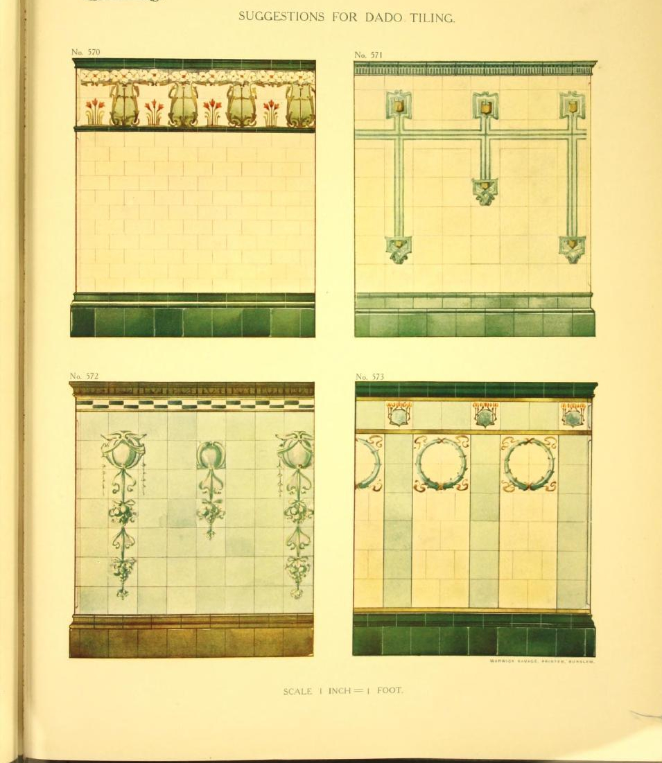 """Suggestions for dado tiling."" Plate 77. Page 51."