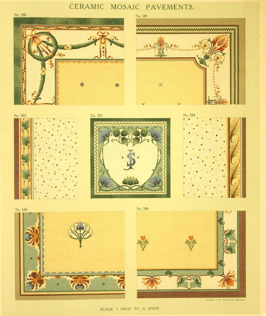 """""""Ceramic mosaic pavements."""" Plate 83. Page 75."""