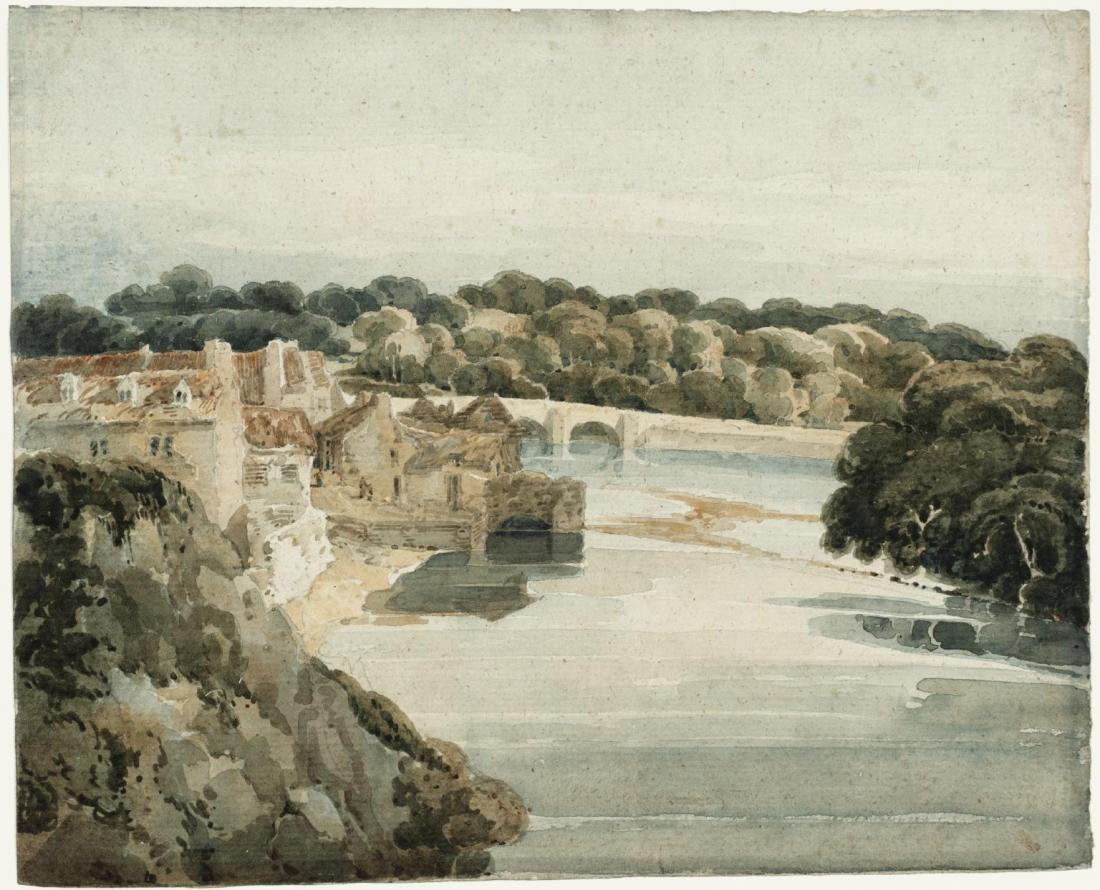"""The River Tweed near Kelso."" 1800."