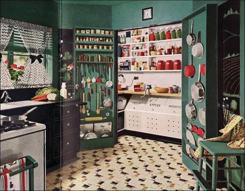 Kitchen and pantry. 1945. Probably Armstrong.