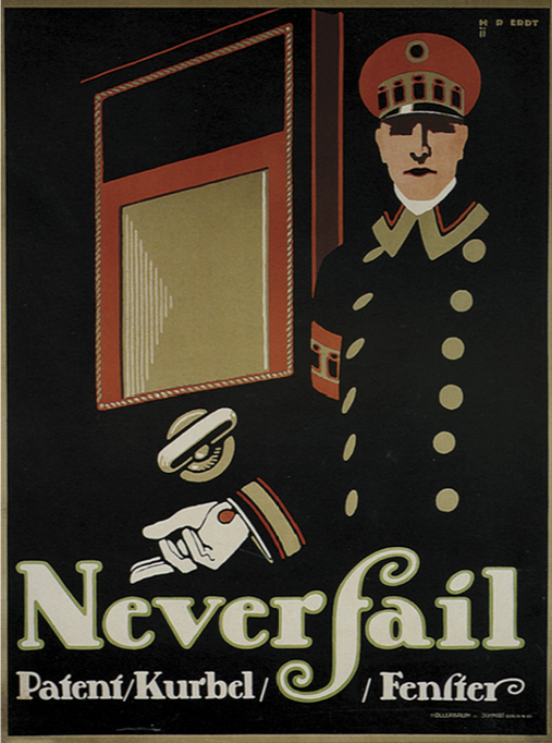 """Neverfail."" Advertising poster."