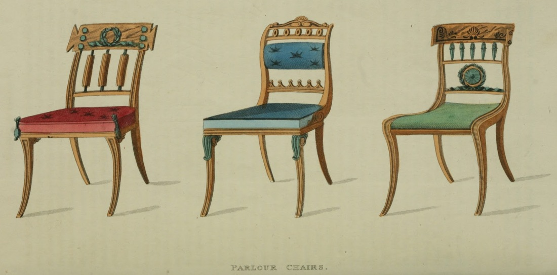 Parlour chairs. Plate 18. 1814.