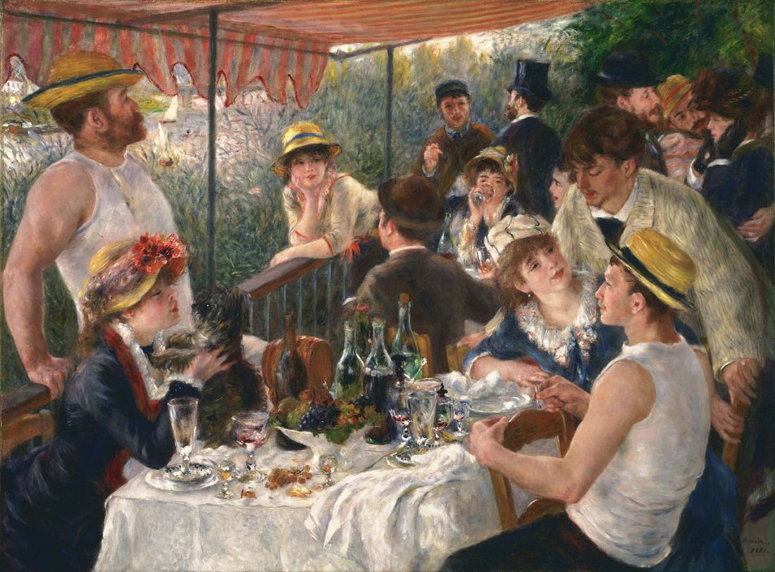 """Luncheon of the Boating Party."" 1880-1881."
