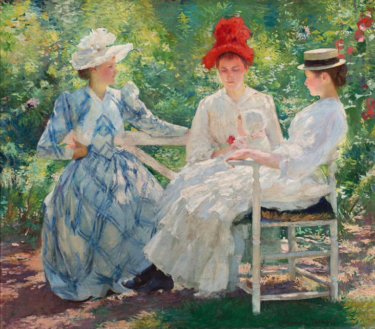 """Three Sisters - A Study in June Sunlight."" 1890."