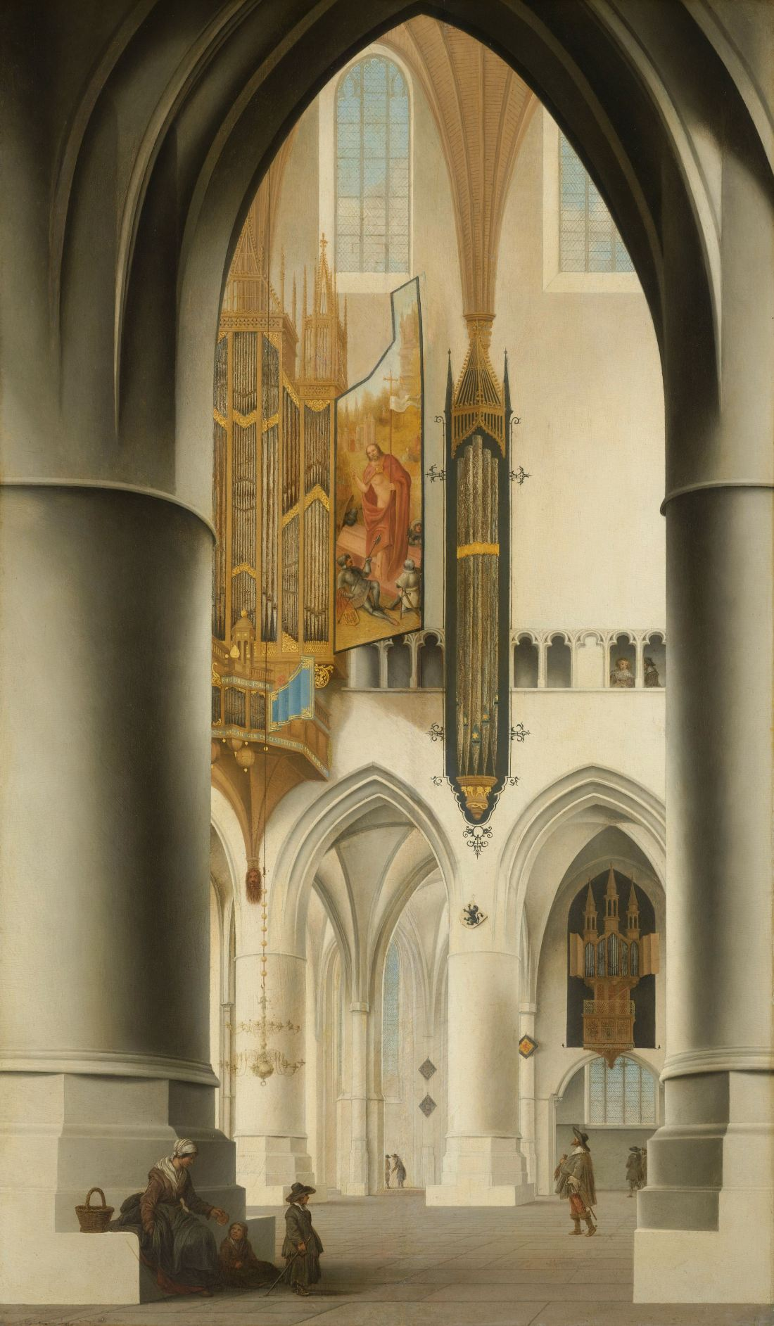 """Interior of the Church of Saint Bavo in Haarlem."" 1636."