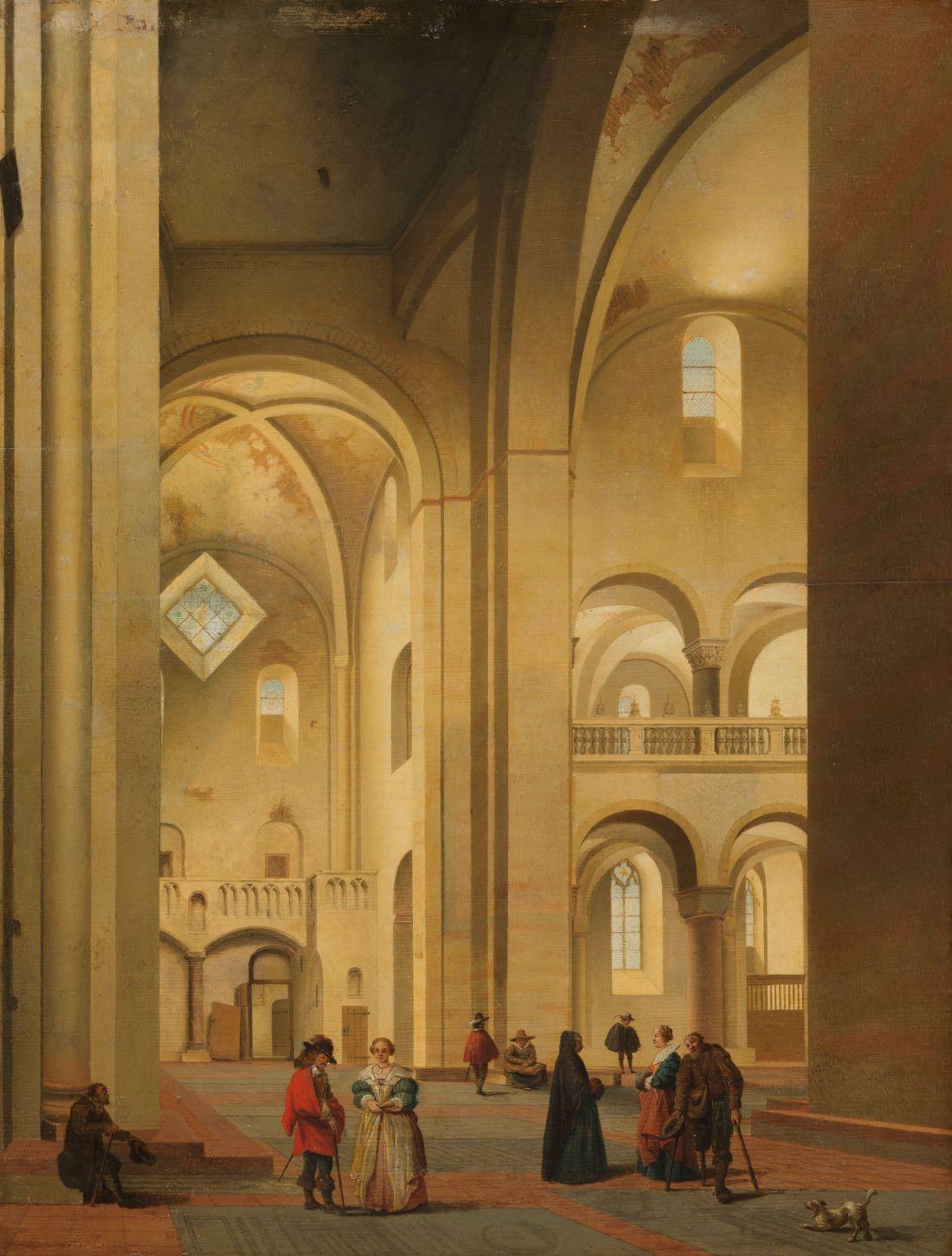 """The Transept of the Mariakerk in Utrecht, seen from the Northeast."" 1637."