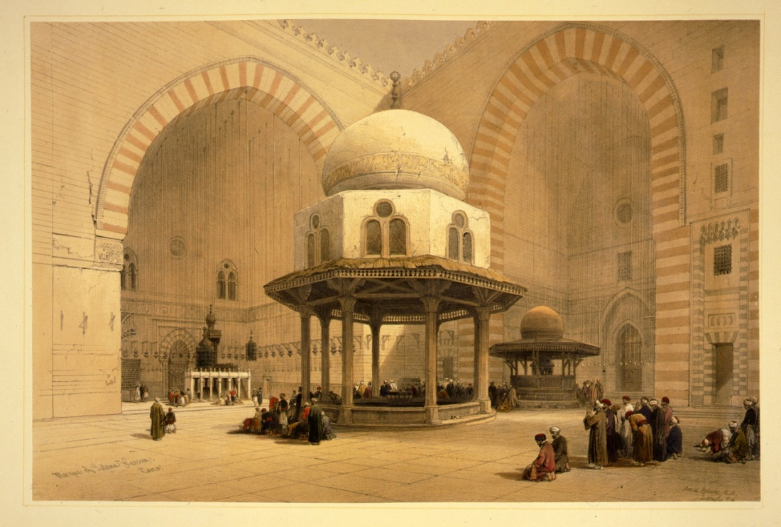 Interior of the Mosque of Sultan Hassan, which was completed in 1359.
