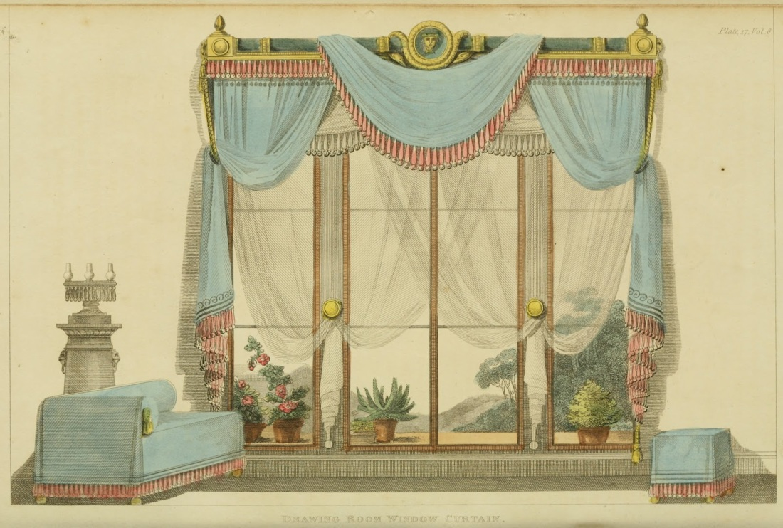 Window curtain for the drawing room. 1812.
