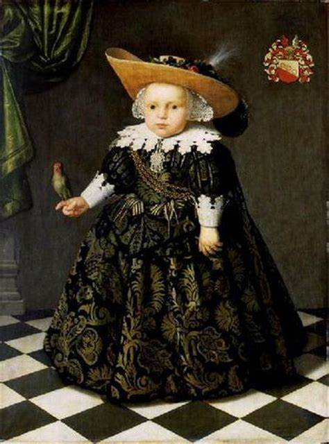 """Portrait of a five year old boy with a parrot."" 1625-1650."
