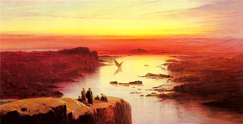 """A view of the Nile above Aswan."" 1873."