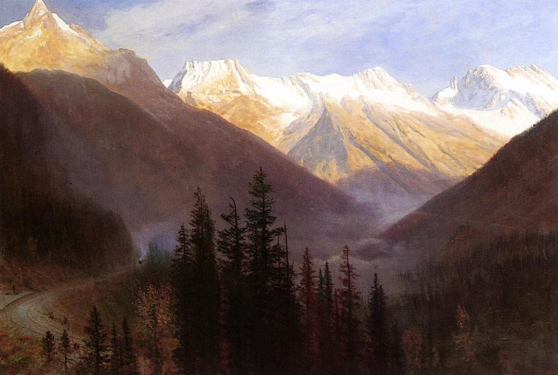 """""""Sunrise at Glacier Station."""" 1889-1890."""