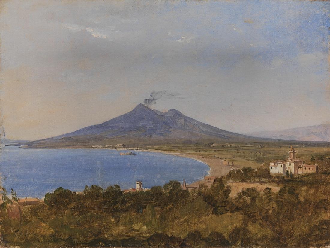 """The Gulf of Naples with Vesuvius."" ca. 1820."