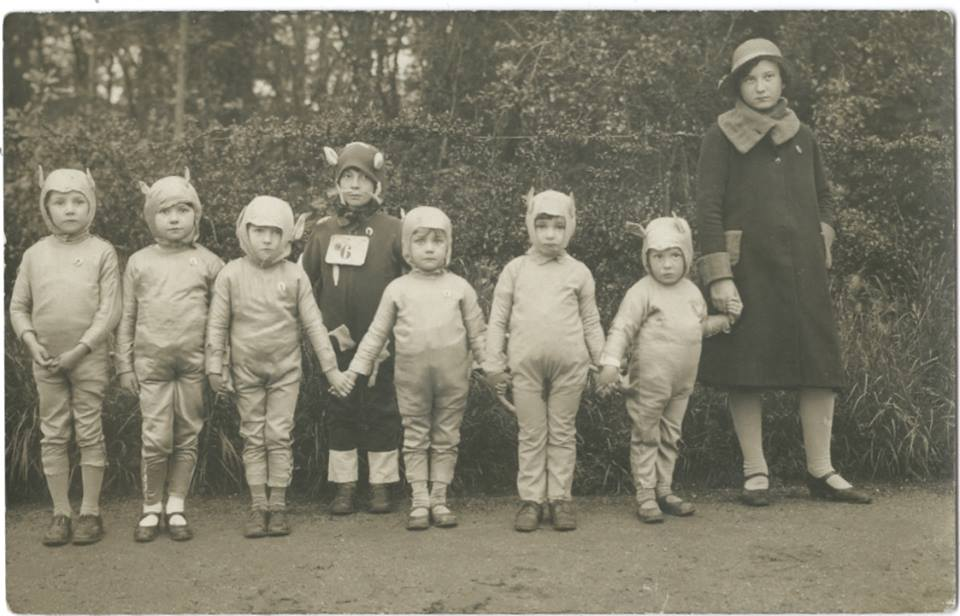 Vintage photograph of children in costumes. 1920's.