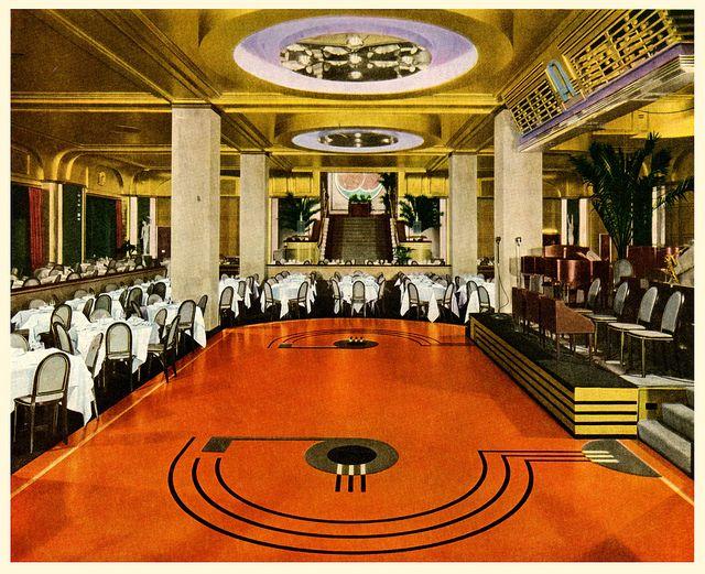 Armstrong linoleum floor. 1935.