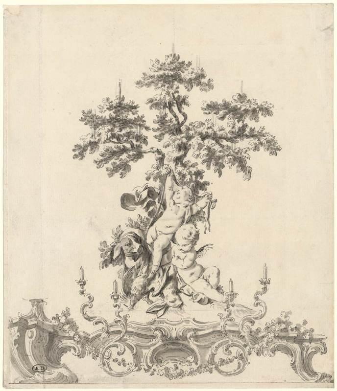 Design for a surtout de table (centerpiece). 18th c.