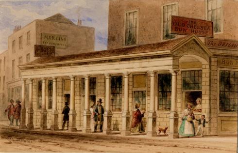 Bun house, Grosvenor Row, Chelsea. Undated.