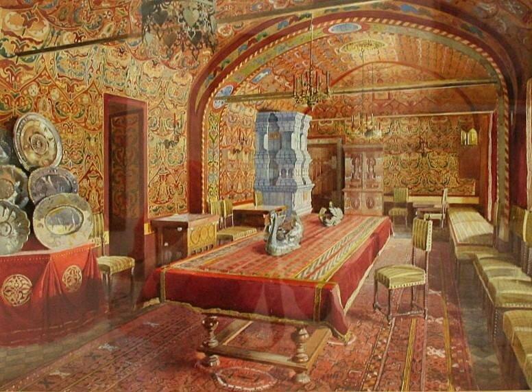 Dining room, Yusupov mansion, Moscow. 1893.