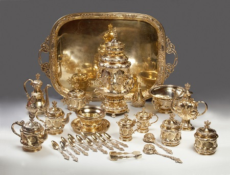 Tea and coffee set. 1848.