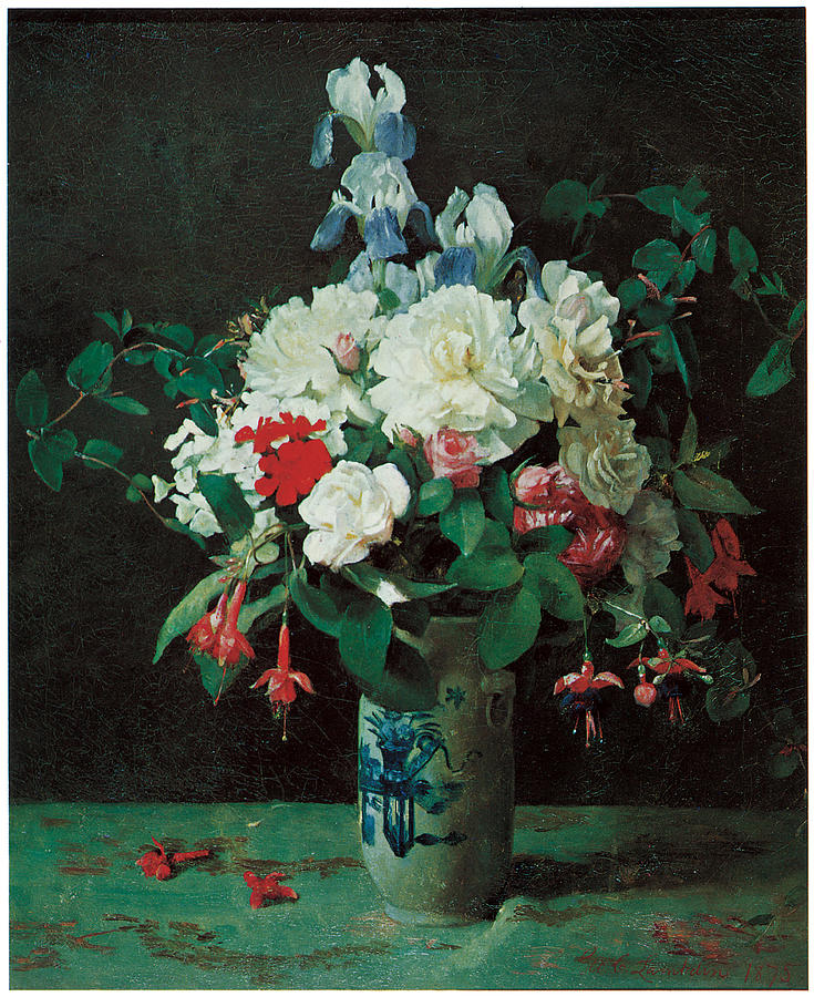 """""""Flowers in a Vase."""" 1875."""