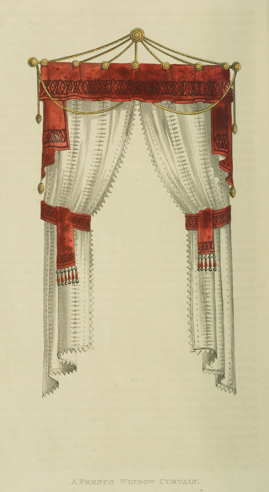 French window curtain.1811.
