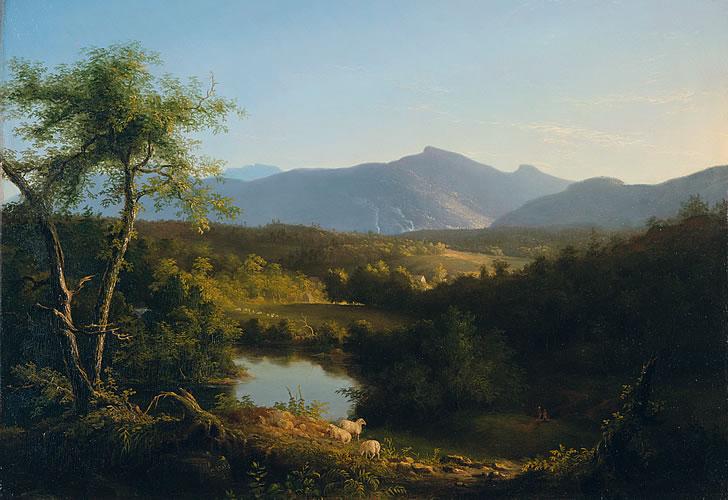 """View Near the Village of Catskill."" 1827."