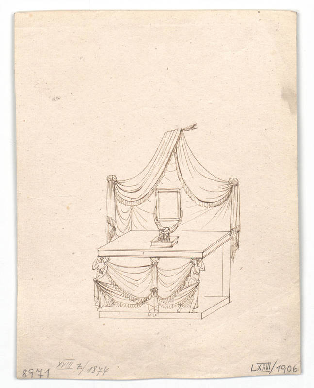 """Design for a toilet table."" 1814-1829."