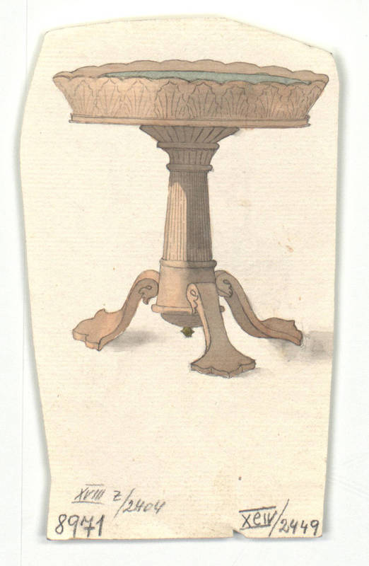 """Design for a tea table."" 1814-1829."