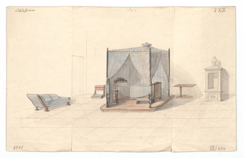 """Design for an interior."" 1814-1829."