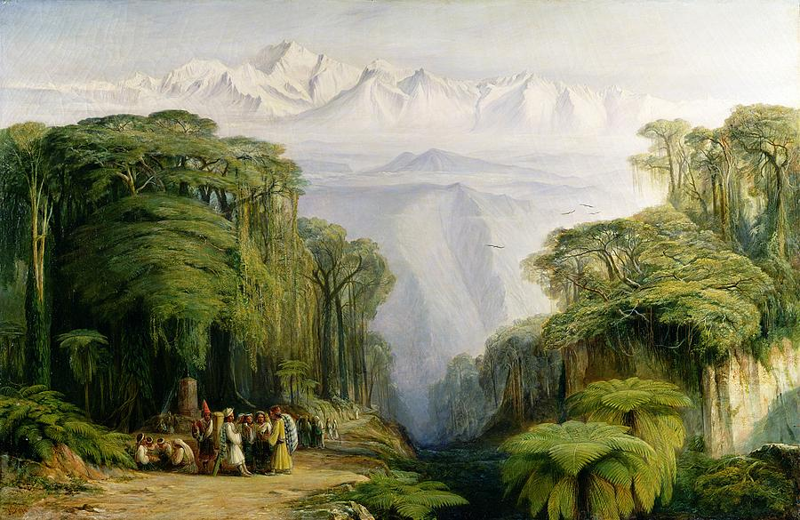"'Kinchinjunga from Darjeeling."" Undated."