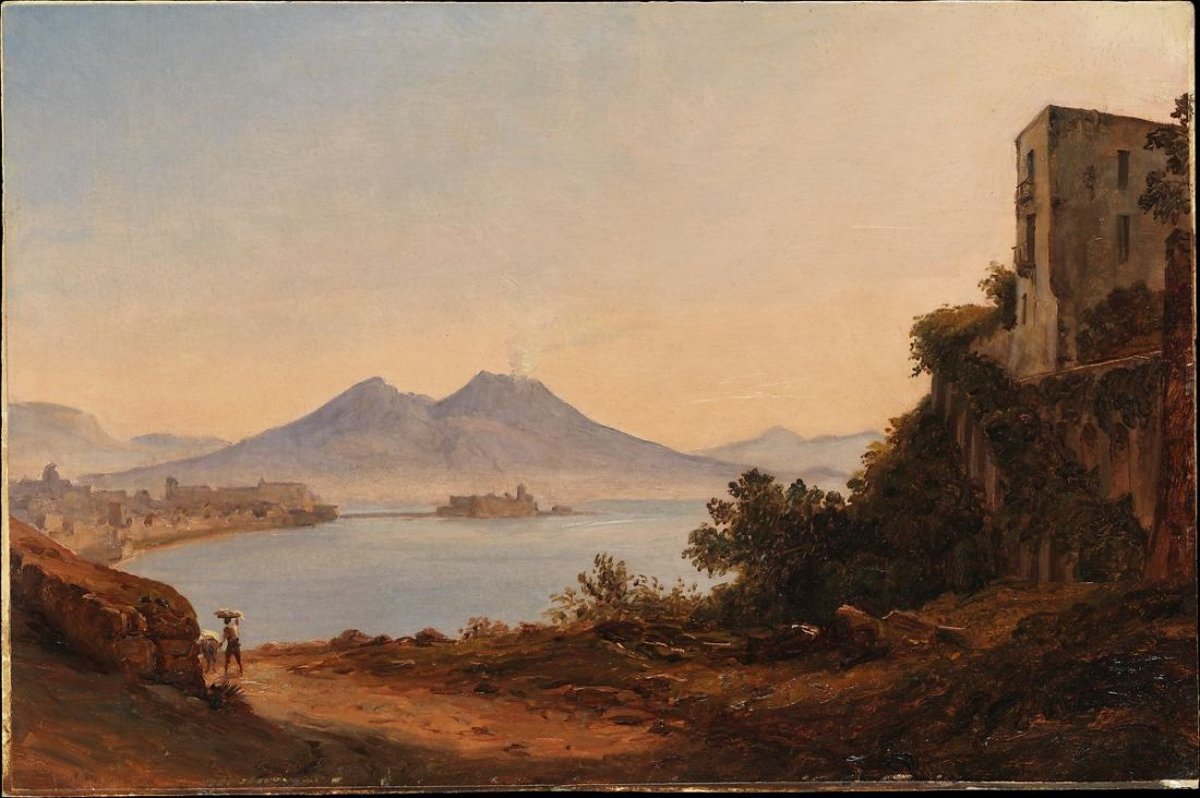 """The Bay of Naples with Vesuvius and Castel dell'Ovo."" ca. 1818-1820."