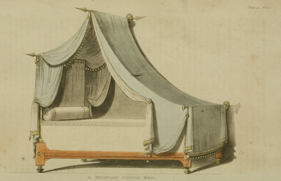 Military couch bed. Plate. 22. 1811.