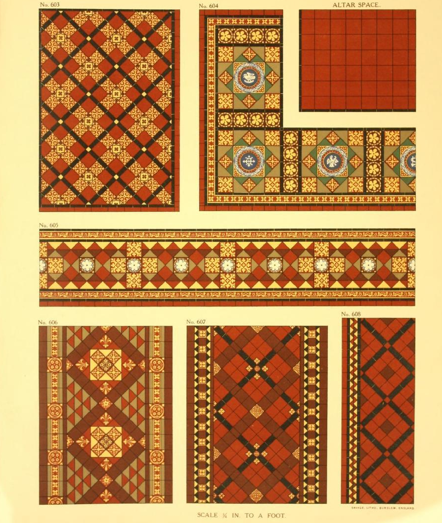 Ecclesiastical tiling. Page 68. Plate 86.