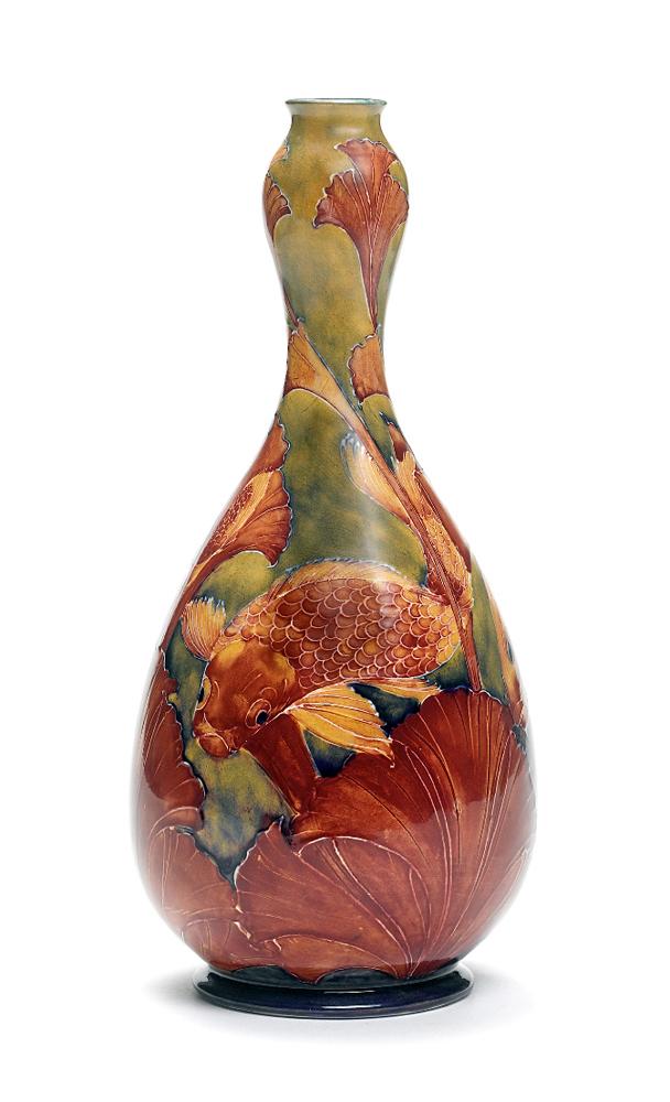"""Flambé Carp"" vase."