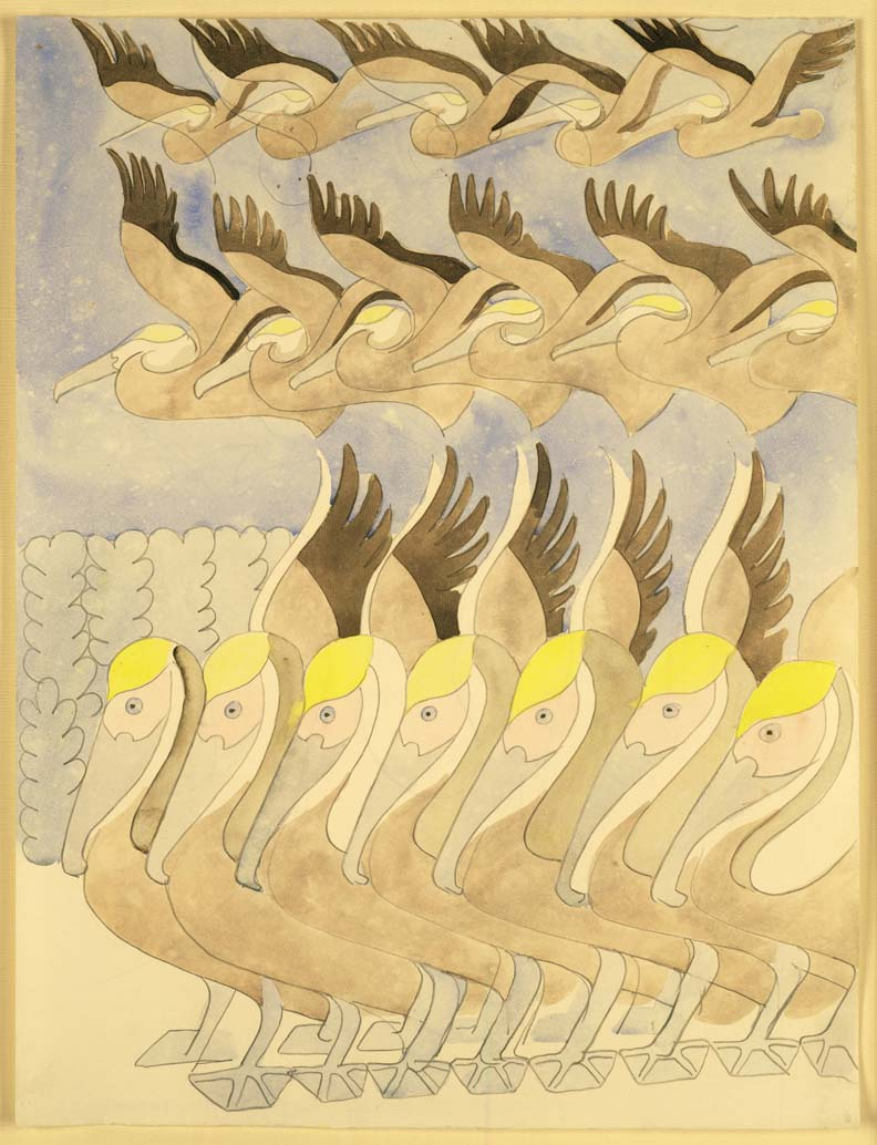 """""""Pelicans."""" 1945."""