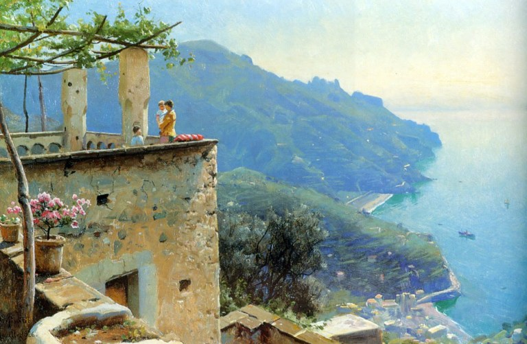 """The Ravello Coastline."" 1926."