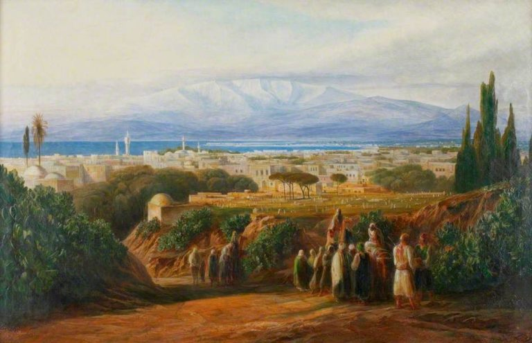 """View of Beirut."" ca. 1861."