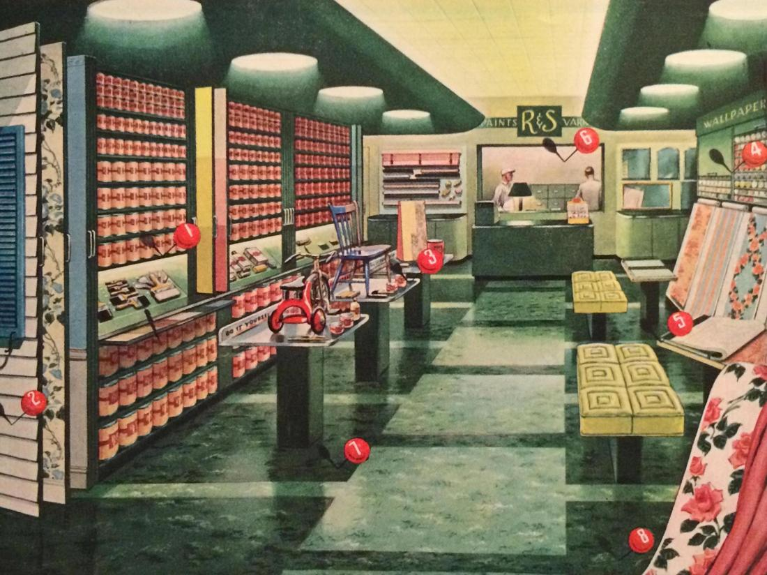 Hardware/wallpaper store. 1940.