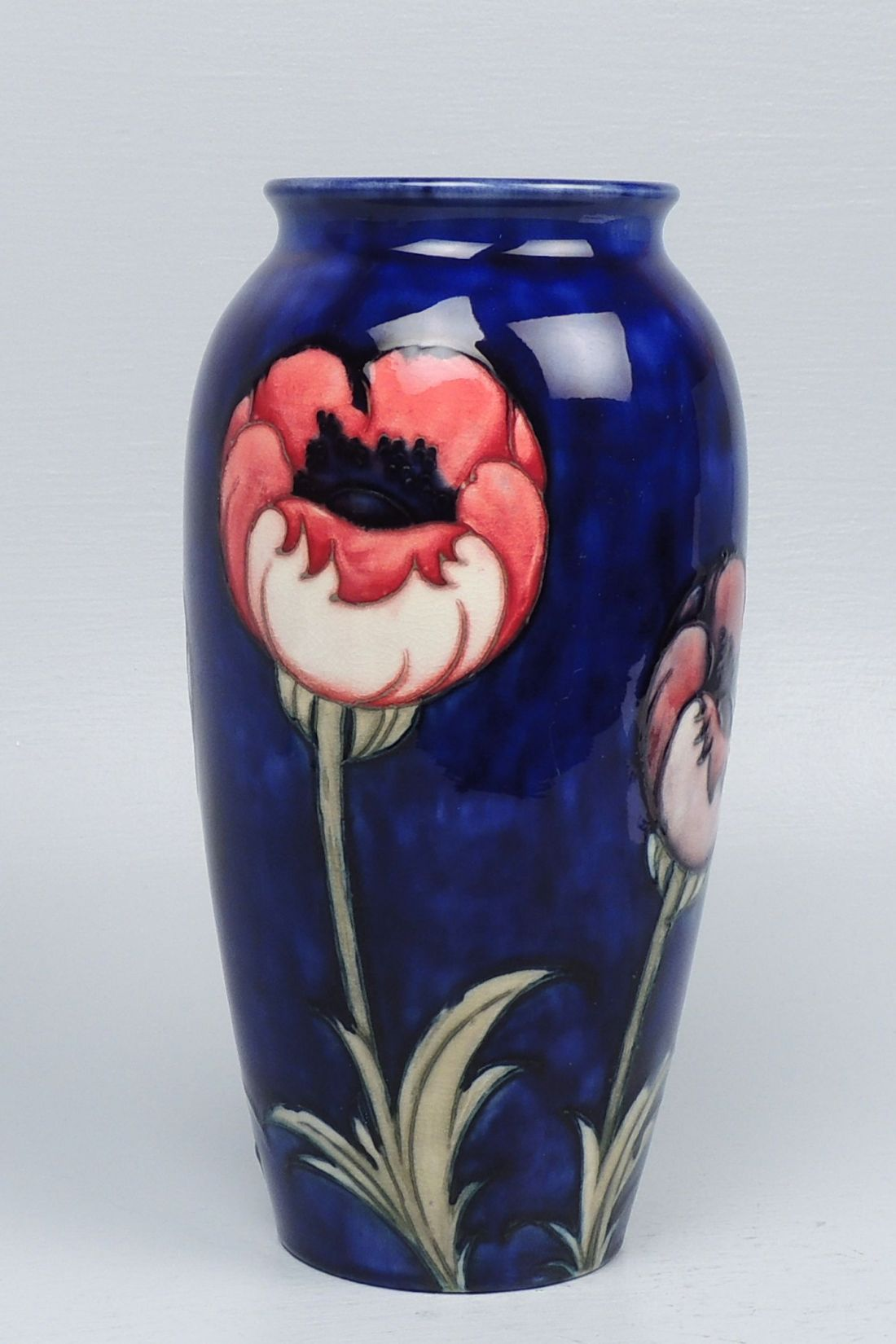 """Big Poppy"" vase. Dates to the Walter Moorcroft era."