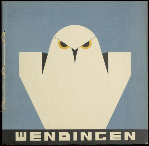 Front cover of Dutch art magazine Wendingen issue for January, 1931.