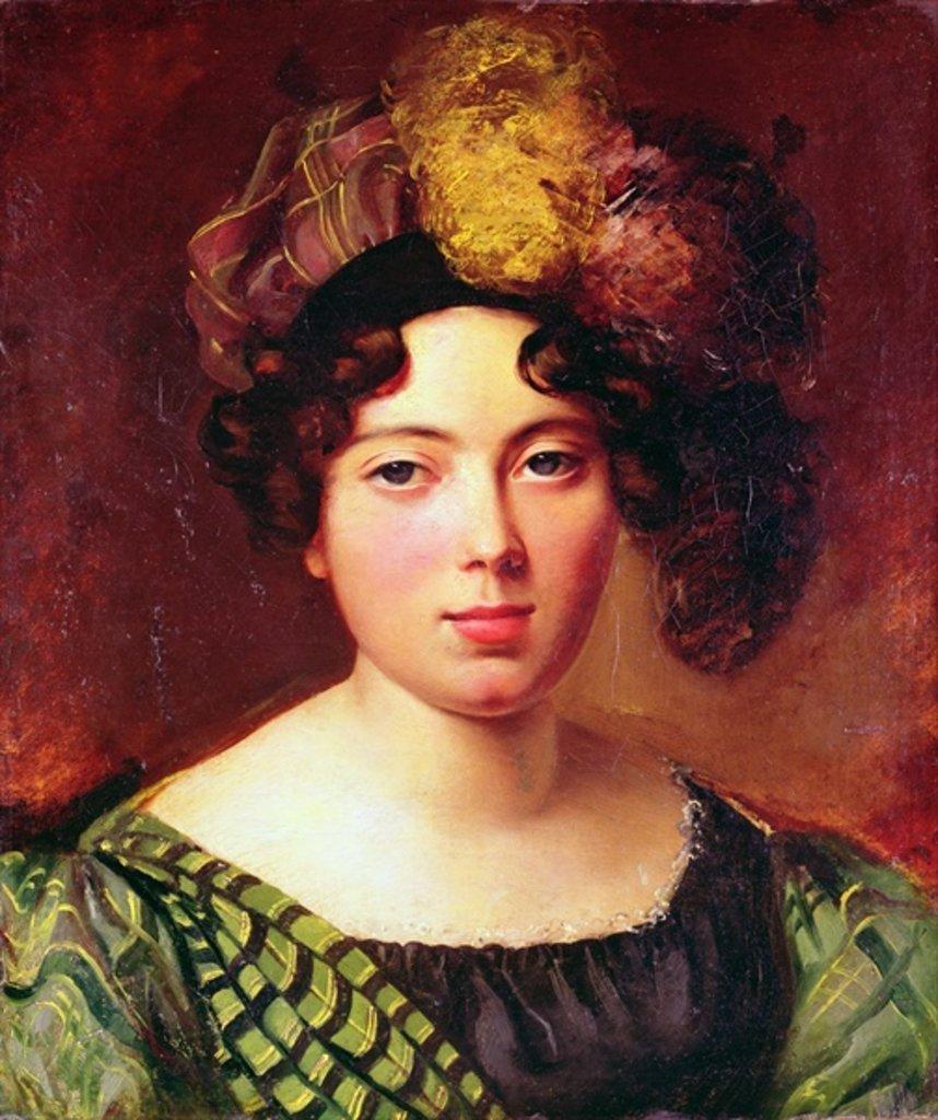 """Portrait of a Young Scottish Woman"" (detail)."