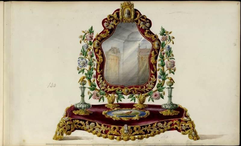 """""""Miroir de toilette.""""  1852-1870."""
